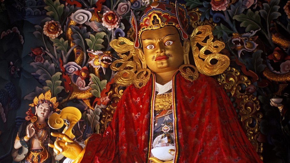 Padmasambhava, ustanovitelj tibetanskega budizma in duhovni mojster. (foto: Profimedia)