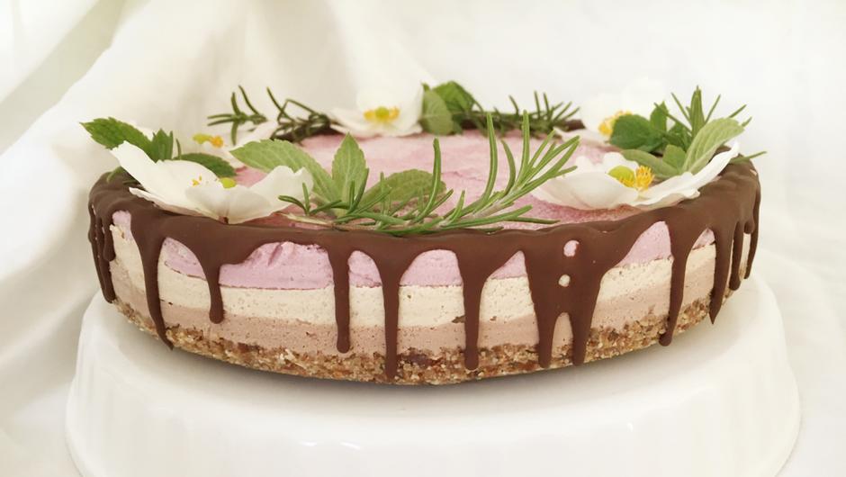 Za konec jogijskega izziva si privoščite kremasto presno tortico! (foto: ne-popolna.si)