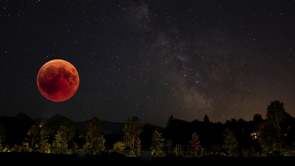 Prihaja super krvavi lunin mrk (foto: pixabay)