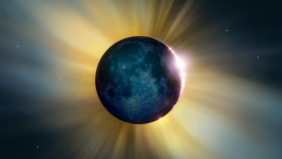 Sončev mrk in lunin mlaj (2. 7.) (foto: profimedia)