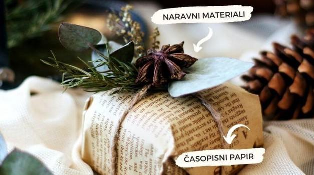 Kako zaviti darila z naravnimi materiali? (foto: sanjski šopek)