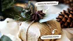 Kako zaviti darila z naravnimi materiali?
